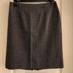Tahari ASL Black and White Houndstooth Skirt